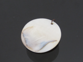 Vintage Jewelry Mother of Pearl Charm Pendant - $12.00