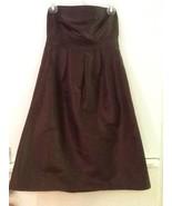 J.Crew Women's 6 100% Silk Brown Strapless Dress Lined - $18.95