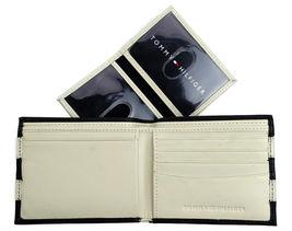 Tommy Hilfiger Men's Leather Wallet Passcase Billfold Navy Bone 31TL22X040 image 6