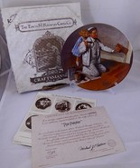1983 Knowles THE PAINTER Norman ROCKWELL HERITAGE Vintage Collector Plate  - $15.63