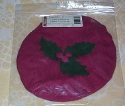 Longaberger Caroling Basket Fabric  Lid COVER ~ Paprika - $11.70