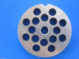 """#12 x 3/8"""" holes STAINLESS Meat Grinder Mincer plate disc screen Hobart 4812 etc - $16.58"""