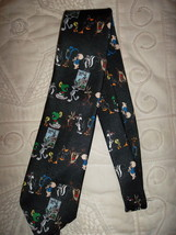 "Looney Tunes Stamp Collection tie - Black Polyester - 56"" long - Fun to ... - $5.95"