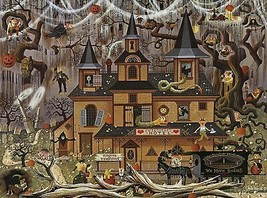 Buffalo Games - Charles Wysocki - Trick Or Treat Hotel - 1... FREE 1DAY ... - $34.64
