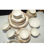 "45 PIECES W.H. GRINDLEY ""ASHBOURNE"" IVORY CHINA~~~~ENGLAND~~HTF - $64.99"