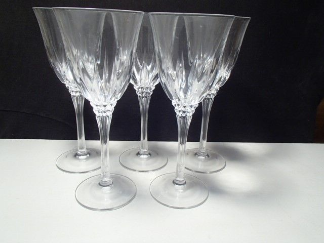 Primary image for 7 CRISTAL d'ARQUES CASTEL TALL WATER / WINE GOBLETS~~