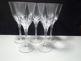 7 CRISTAL d'ARQUES CASTEL TALL WATER / WINE GOBLETS~~ - $39.99