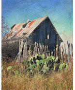 Rustic Grunge Home Decor Print of Old Barn - $12.50