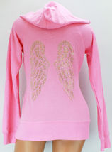 Victoria's Secret Supermodel Essentials Hoodie Pink Bling Angel Wings - $350.00