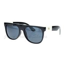 Marijuana Leaf Fashion Sunglasses Flat Top Black Frame UV 400 - $9.85