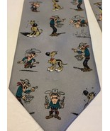 Lucky Luke French Cowpoke Cowboy Dog Novelty Neck Tie 2001 - $15.00