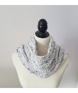 Woman's Bulky Tweed Cowl in soft acrylic yarn, versatile cowl with fleck... - $20.00