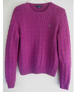 Ralph Lauren Black Label Purple cotton sweater ... - $42.99