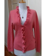 EUC - GARNET HILL Pink Heather 100% Cashmere V-Neck Cardigan Sweater Size S - $29.69