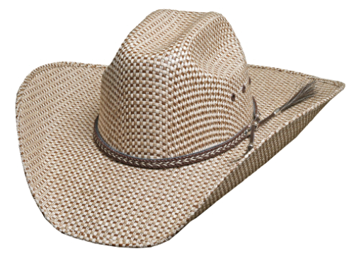 Bullhide Justin Moore Point At You 50X Sensu Straw Cowboy Truman Crown Natural image 1