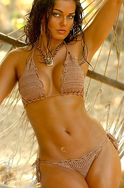 New Ujena Bamboo Seychelles Crochet Swimsuit Beach Bikini