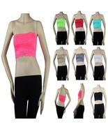 Floral Lace Strapless Tube BANDEAU BRA Stretch Sports layering CuteCasua... - $6.99