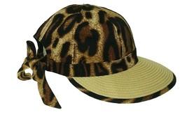 Framer Straw Beach Hat Cheetah Animal Print August Accessories - NWT - $24.38 CAD