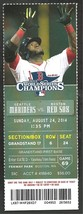 Seattle Mariners Boston Red Sox 2014 Ticket Dustin Ackley Kyle Seager Mo... - $2.95