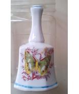 Bell Ceramic Springtime Easter Dinner Bell w/Red Fern, Flowers & Green B... - $16.99