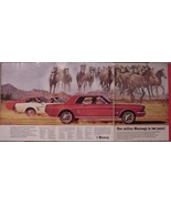 RARE 3 PAGE 1966 FORD MILLION MUSTANG CARS AD GREAT COLOR & PHOTOS - $9.99