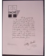 1948 Lily Dache letter to City of New York Gold... - $24.99