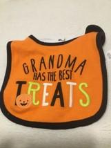 "Carter's Baby Halloween ""Grandma Has the Best Treats"" Bib New/One Size - $3.00"