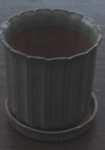 Medium Size Pottery Planter, With Drip Pan, Nice Medium Size, Indoor or ... - $19.79
