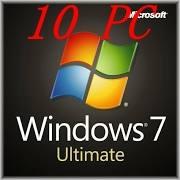 10pc Microsoft Windows 7 Ultimate 32/64 BITS- OEM Product key code for 10PC