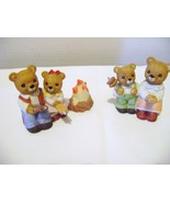 Homco Teddy Bear Family  Campfire Set - $14.00