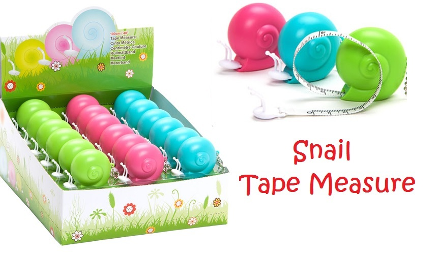 "Snail Retractable Tape Measure 100cm/40"" metric inches sewing quilting stitching"