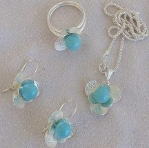 Turquoise  silver set  - $61.00