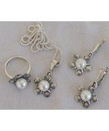 White artificial pearls set - $65.00