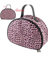 Pink Leopard Animal Print Make Up Tool Cosmetic Holder Travel Case Organ... - $29.99
