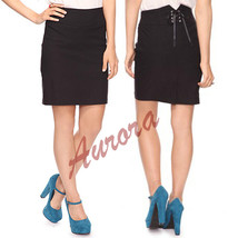 Forever21 Lace Tie up Formal Business Club Cocktail Pencil Knee Party Skirt - $91.00