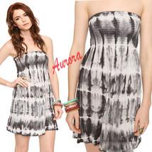 Forever21 Tie Dye Summer Tube Strapless Smocked Bust Sun Dress Beach Cov... - $59.99