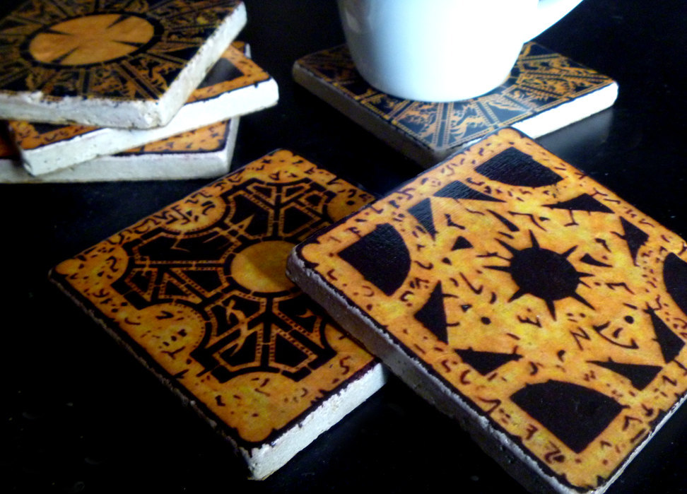The Lament Configuration Tumbled Stone Drink Coaster Set