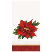 Holly Poinsettia 16 Christmas Guest Napkins Party - $5.69