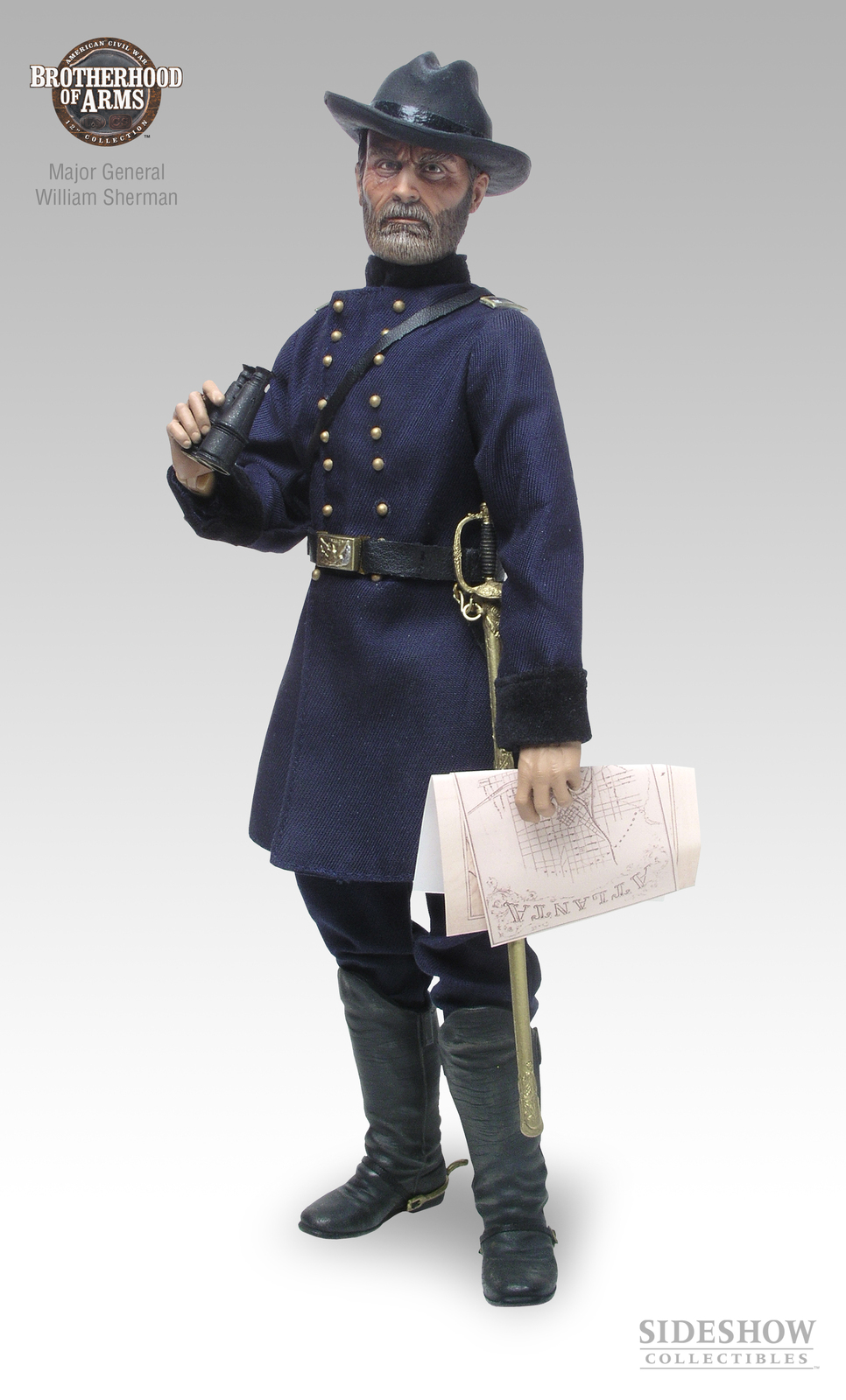 Civil Protection Toys : Major general william tecumseh sherman civil war action