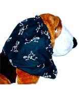 Dog Snood-Cotton Halloween Dancing Skeletons Black-Afghan-Basset-Spaniel... - $11.50