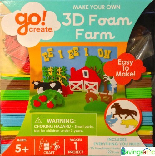 Go Create Make Your Own 3d Foam Farm Toy Puzzles