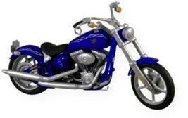 Hallmark Keepsake Harley Davidson 2008 Fxcwc Softail Rocker C Dated 2009 - $20.85