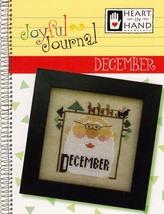 December Joyful Journal chart series cross stitch chart Heart In Hand  - $5.00