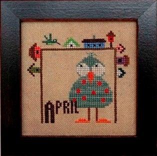 April Joyful Journal chart series cross stitch chart Heart In Hand
