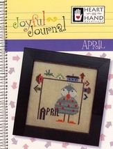 April Joyful Journal chart series cross stitch chart Heart In Hand  - $5.00