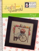 May Joyful Journal chart series cross stitch chart Heart In Hand  - $5.00