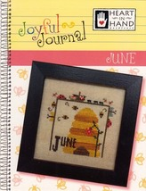 June Joyful Journal chart series cross stitch chart Heart In Hand  - $5.00