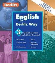 English the Berlitz Way: For Spanish Speakers-Level 3 with Book (Berlitz... - $17.57