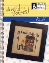 July Joyful Journal chart series cross stitch chart Heart In Hand  - $5.00