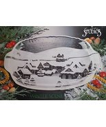 Crystal Clear Studios Winter Scene Platter - $31.34